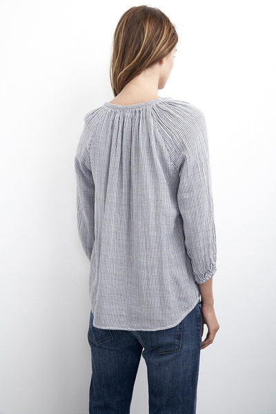 Velvet by Graham & Spencer Fran Pinstripe Top