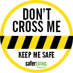 Don't cross me stickers (35 per sheet)