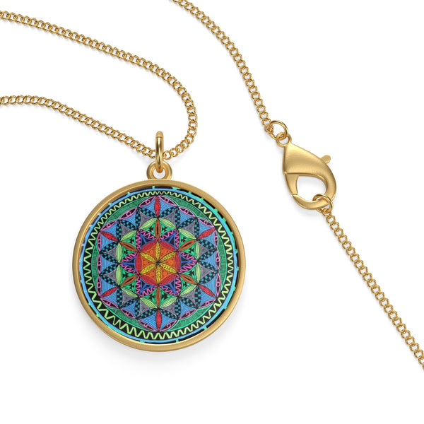 Sun of Life Single Loop Necklace