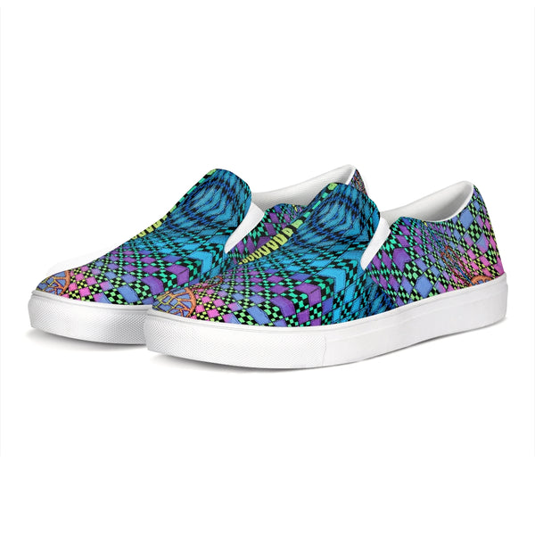 Vanagon Vantasy Pattern Slip-On Canvas Shoe