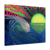 Big Wave Sunset Canvas Gallery Wrap