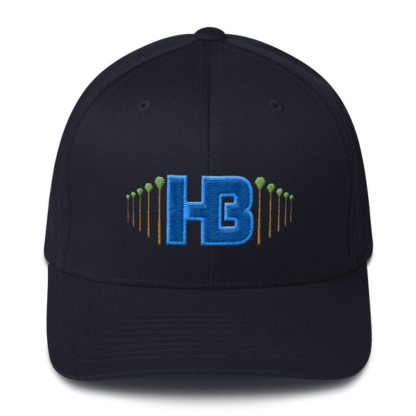 HB Palm Trees Flex Fit Hat