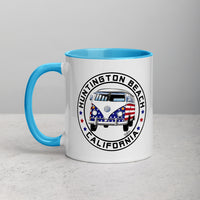Patriotic Bus Mug with Color Inside
