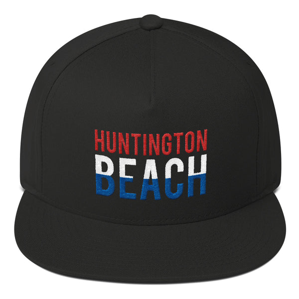 Huntington Beach Red White and Blue Snapback Hat