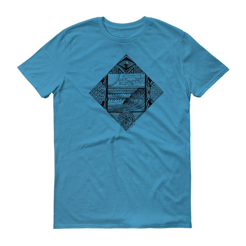 Diamond Wave Drawing T Shirt