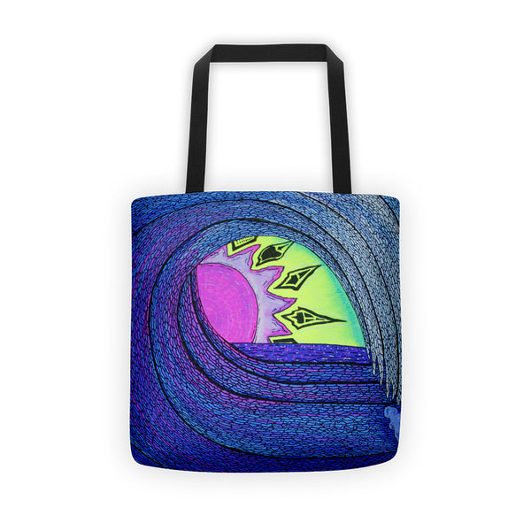 Peek a Boo Sunset Tote bag