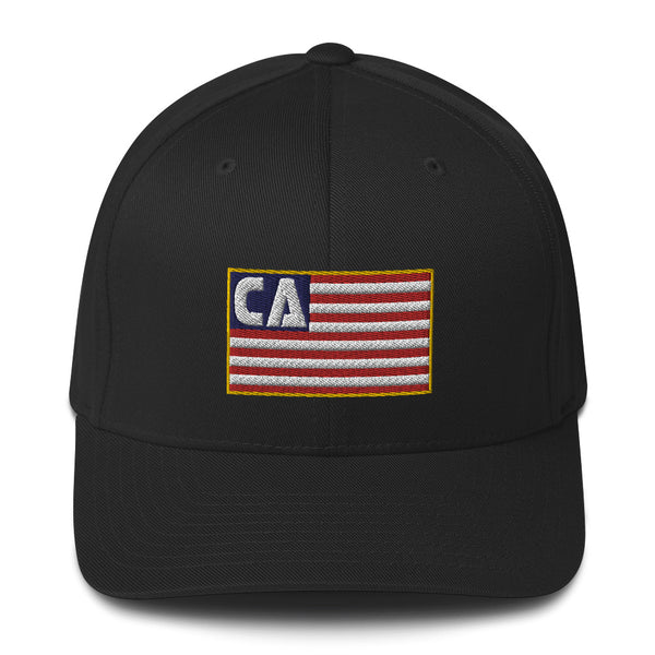 California Flag Flexfit Structured Twill Cap
