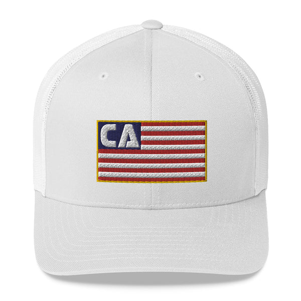California (CA) Flag Trucker Hat