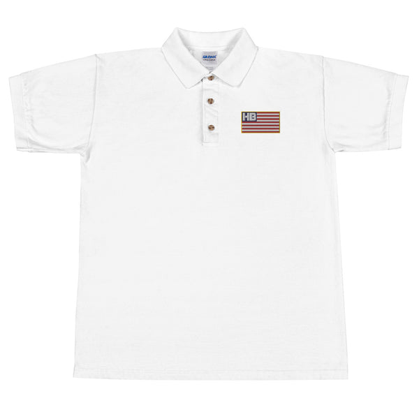 HB Flag Embroidered Polo Shirt
