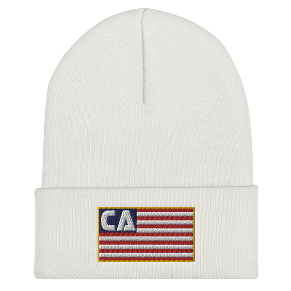 California (CA) Flag Cuffed Beanie