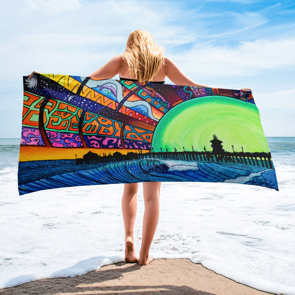 HB Dazzle 2 Lightweight Space-Saver Beach Towel