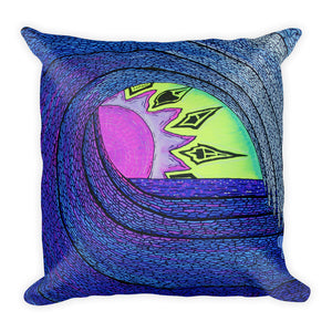 Peek-a-Boo Sunset Square Pillow