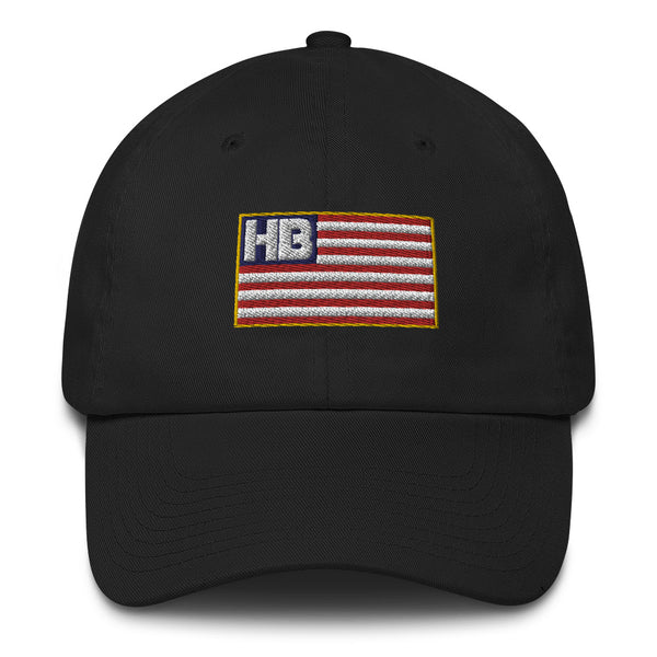 HB Flag - MADE in the USA Cotton Cap