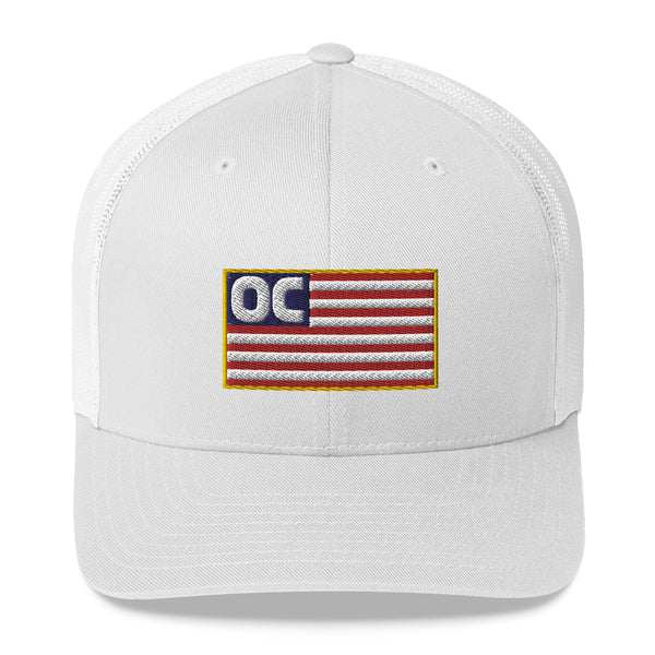 OC Flag Trucker Hat with Mesh Back