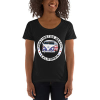 Patriotic Bus Women's Scoopneck T-Shirt