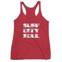 80's Surf City Soul Women's Racerback Tank