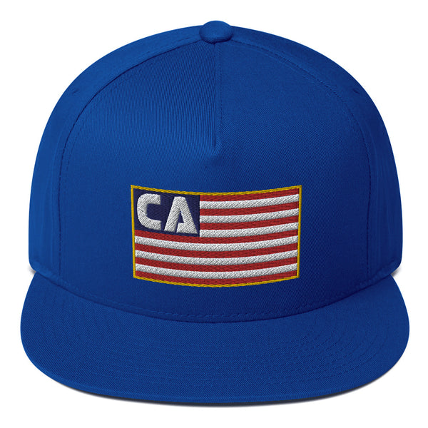 California (CA) Flag Flat Bill Hat