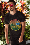 Big Sur Sunset T Shirt Heavy Thick Cotton Durable Long Seed of Life Sacred Geometry Waves and Surf Art