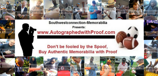 www.AutographedwithProof.com | Authentic NFL Football Autographed Sports Collectibles and Memorabilia with Proof Photo of Signing