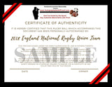 Rugby- Autographed- 2018 England Rugby National Union Team Signed World Cup Sevens Ball, Proof-COA