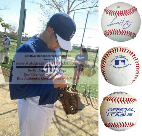 Baseballs- Autographed- Aaron Harang Signed Rawlings ROLB1 Leather Baseball - Los Angeles Dodgers - Oakland Athletics - Collage 2