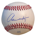 Baseballs-Autographed- Aaron Hill Signed ROLB1 Rawlings Baseball, Proof- Milwaukee Brewers - Toronto Blue Jays - 201