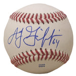 Baseballs-Autographed- A.J. Griffin Signed ROLB1 Rawlings Baseball, Proof Photo -Texas Rangers- Oakland Athletics A's - 201