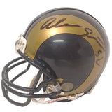 Football Helmets- Autographed- Alec Ogletree Signed Los Angeles Rams Mini Football Helmet, Proof 101
