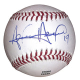 Baseballs- Autographed- Alen Hanson Signed Rawlings ROLB1 Leather Baseball - Seattle Mariners - Proof Photo - 201