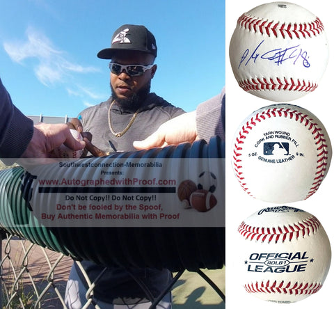Baseballs- Autographed- Alex Colome Signed ROLB1 Baseball Proof Photo - Chicago White Sox - Seattle Mariners- Tampa Bay Rays- Collage 1