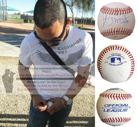 Baseballs- Autographed- Alex Gonzalez Signed Rawlings ROLB1 Leather Baseball, Proof Photo- Boston Red Sox- Collage 1