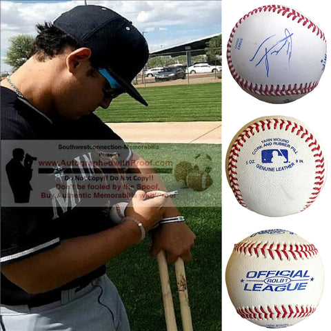 Baseballs- Autographed- Alex Jackson Signed Rawlings ROLB1 Baseball, Proof Photo- Seattle Mariners- Collage 1