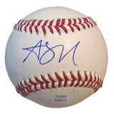 Baseballs- Autographed- Alex Yarbrough Signed Rawlings ROLB1 Baseball - Proof Photo- Los Angeles Angels - Miami Marlins- 101