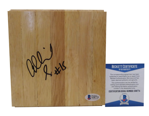 Allisha Gray Autographed 6x6 Parquet Basketball Floor Board, Dallas Wings, South Carolina Gamecocks, Proof, Beckett S38774