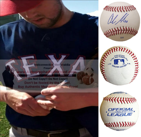 Baseballs- Autographed- Andrew Faulkner Signed Rawlings ROLB1 Baseball - Proof- Texas Rangers - Baltimore Orioles- Collage 2