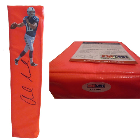 Football End Zone Pylons- Autographed- Andrew Luck Signed Indianapolis Colts TD Pylon PSA/DNA X37284