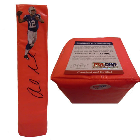 Football End Zone Pylons- Autographed- Andrew Luck Signed Indianapolis Colts TD Pylon, PSA/DNA X37903