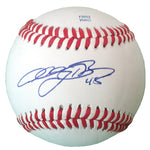 Baseballs- Autographed- Anthony Bass Signed Rawlings ROLB1 Baseball, Proof Photo- Texas Rangers- San Diego Padres - 201