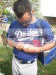 Baseballs-Autographed - Matt Magill Signing Rawlings ROLB Leather Baseball, Proof Photo