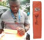 Football End Zone Pylons- Autographed- Ben Grubbs Signed Kansas City Chiefs TD Pylon, Proof- KC- Collage- 2