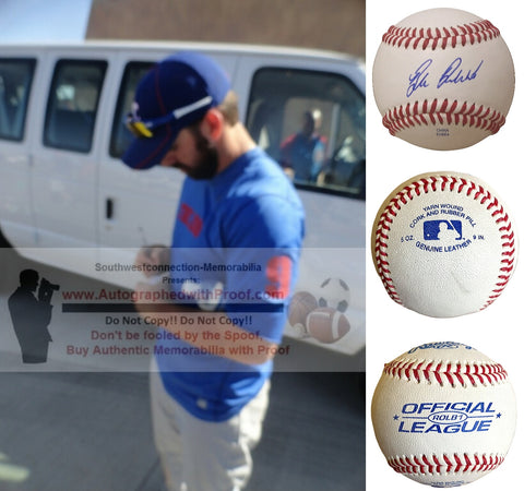 Baseballs- Autographed- Blake Dewitt Signed Rawlings ROLB1 Baseball, Proof- Los Angeles Dodgers- Chicago Cubs - Collage 2