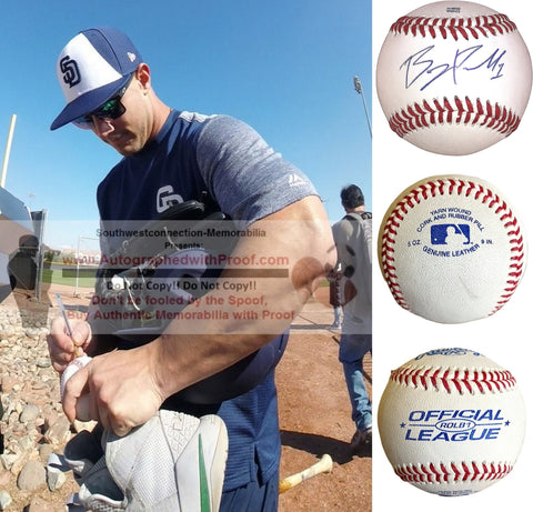 Baseballs-Autographed- Boog Powell Signed ROLB1 Rawlings Baseball, Proof Photo- San Diego Padres- Cincinnati Reds - Collage 1
