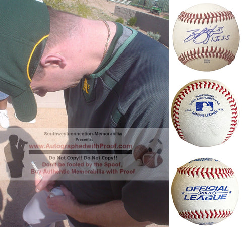Baseballs- Autographed- Brad Ziegler Signed Rawlings ROLB Baseball, Proof Photo- Oakland Athletics- Boston Red Sox - Collage 6