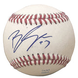 Baseballs- Autographed- Bryan Shaw Signed Rawlings ROLB1 Baseball, Proof Photo- Cleveland Indians- Colorado Rockies - 101