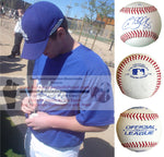Baseballs- Autographed- Chad Billingsley Signed Rawlings ROLB1 Leather Baseball - Proof Photo - Los Angeles Dodgers - Philadelphia Phillies - Collage 5