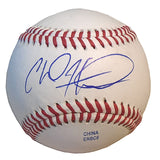 Baseballs-Autographed - Chad Hinshaw Signed Rawlings ROLB1 Leather Baseball, Proof Photo- Los Angeles Angels- 101