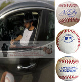 Baseballs- Autographed- Chris Colabello Signed Rawlings ROLB1 Baseball Proof Photo- Toronto Blue Jays- Minnesota Twins - Collage- 1