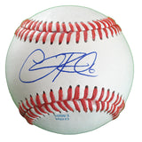 Baseballs-Autographed - Chris Robinson Signed Rawlings ROLB1 Leather Baseball, Proof Photo- Texas Rangers- San Diego Padres- 101