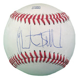 Baseballs-Autographed - Christian Bethancourt Signed Rawlings ROLB1 Leather Baseball, Proof Photo- San Diego Padres- Atlanta Braves- 201