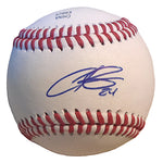 Baseballs-Autographed - Christian Colon Signed Rawlings ROLB1 Leather Baseball, Proof Photo- Miami Marlins- Kansas City Royals- 301